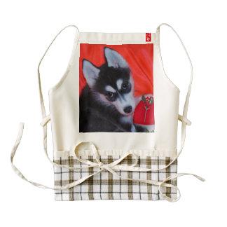 Delantal del corazón del husky siberiano delantal zazzle HEART