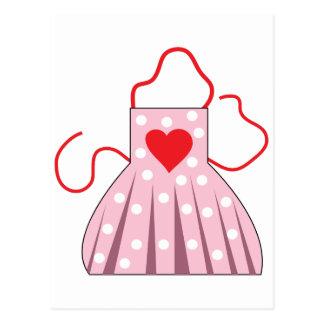 Delantal del corazón postales
