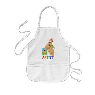 Delantal del delantal del arte del perro del artis