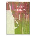 Delantal del feliz cumpleaños y tarjeta del ruibar