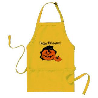 Delantal del feliz Halloween de la calabaza del ga