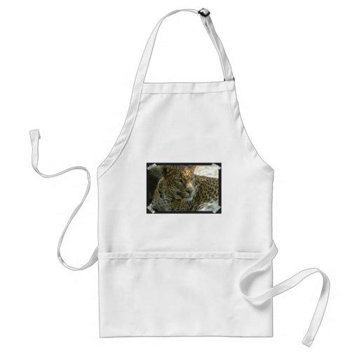 Delantal del gato de pantera