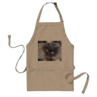 Delantal del gato por maullido del cocinero