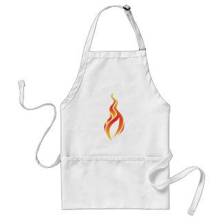 Delantal del icono de la llama