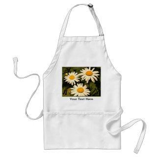 Delantal del jardín de flores de la margarita de
