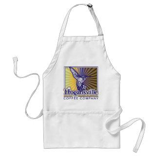 Delantal del logotipo del colibrí del café de Hoga
