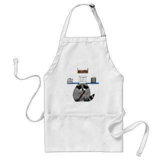Delantal del mapache del cocinero