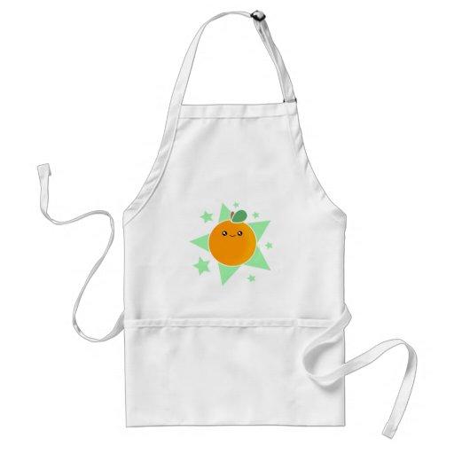 Delantal del naranja de Kawaii