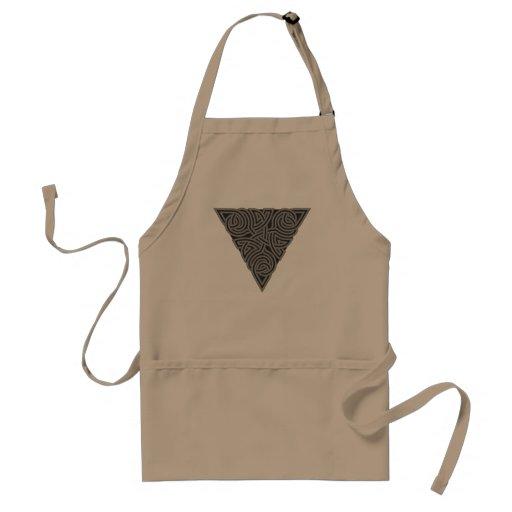 Delantal del nudo del triángulo del carbón de leña