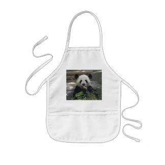Delantal del oso de la panda del niño