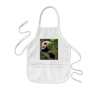 Delantal del oso de panda gigante y de la panda de