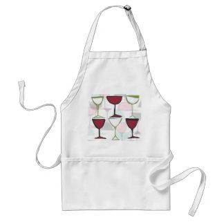 delantal del panel del vino