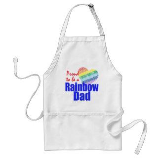 Delantal del papá del arco iris