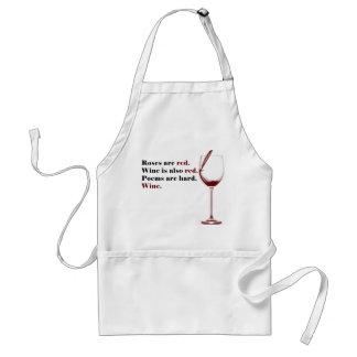 Delantal del poema del vino