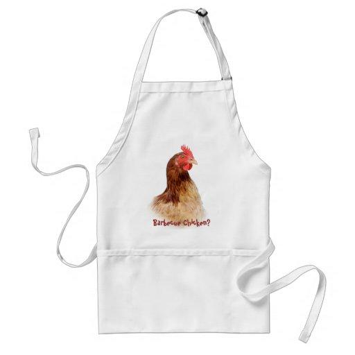 Delantal del pollo de la barbacoa