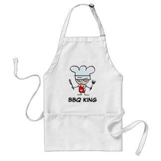 Delantal del rey del Bbq con el cocinero divertido
