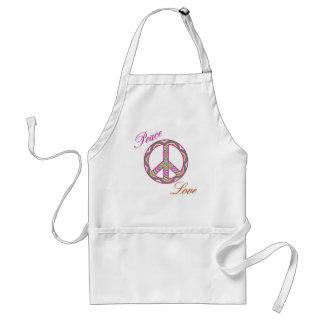 Delantal del signo de la paz de la paz y del amor