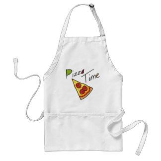 Delantal del tiempo de la pizza