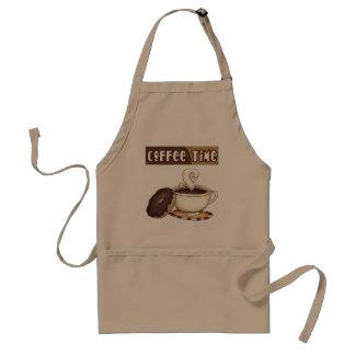 delantal del tiempo del café