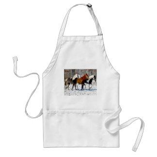 Delantal del trío del caballo