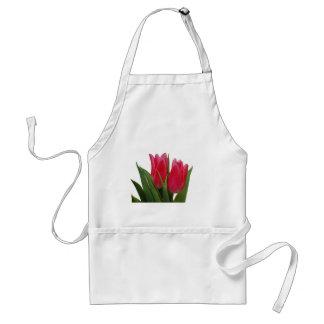 Delantal del tulipán de las rosas fuertes