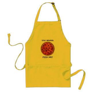 Delantal divertido de la pizza