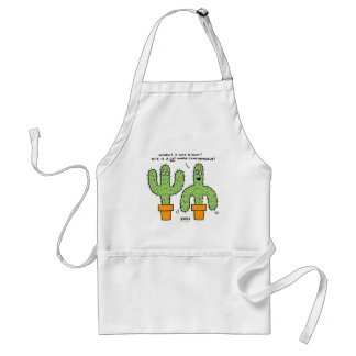 Delantal divertido del amante del cactus