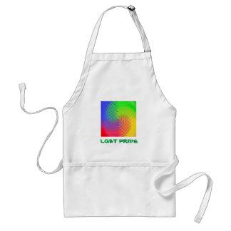 Delantal espiral del orgullo del arco iris LGBT
