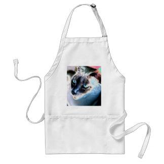 Delantal estándar alterado reservado del gato siam