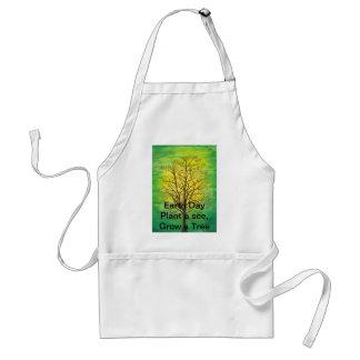 Delantal estándar del Día de la Tierra - árbol ver