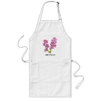 Delantal - flores de la lila
