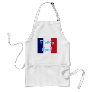 Delantal francés del cocinero de la bandera de Fra