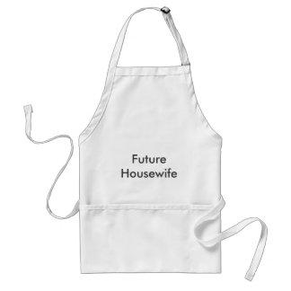 Delantal futuro del ama de casa