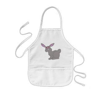 Delantal gris del conejo