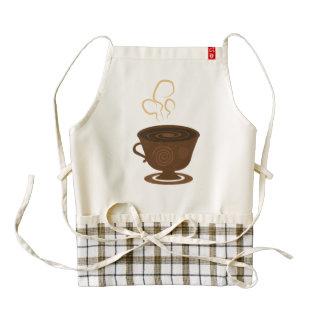 Delantal hermoso del café para Coffeelovers Delantal Zazzle HEART