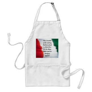 Delantal italiano de la comida