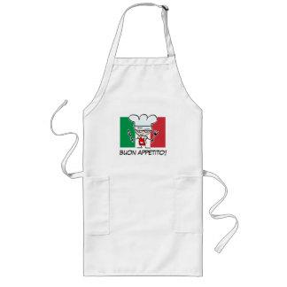 Delantal italiano del Bbq del cocinero con la