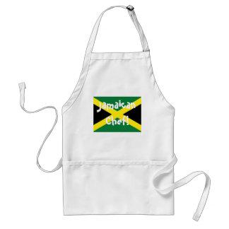 Delantal jamaicano de la bandera del cocinero de