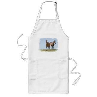 Delantal largo de los pares del caballo del mustan