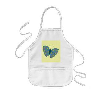 Delantal manchado turquesa de la mariposa
