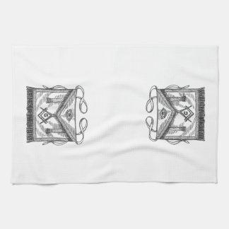 Delantal masónico toallas