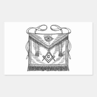 Delantal masónico rectangular altavoces