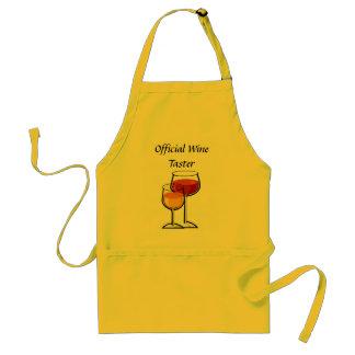 Delantal oficial del catador del vino