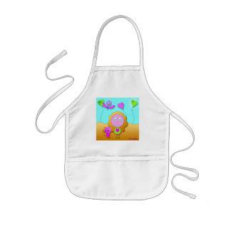 delantal para niño pintura muchacha gato rosado ve
