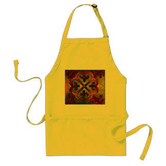 Delantal pastoral del amarillo del arte
