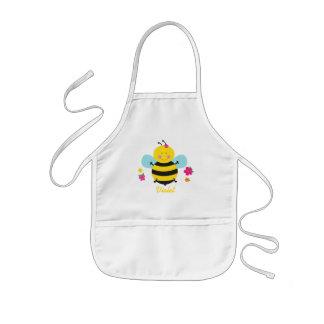 Delantal personalizado abeja linda para los chicas