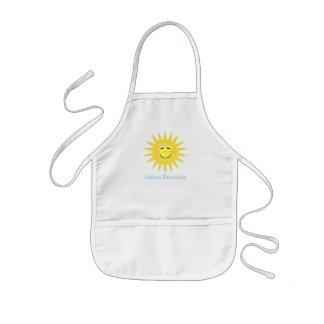 Delantal personalizado de la sol