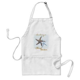 Delantal personalizado estrellas de mar de la coci
