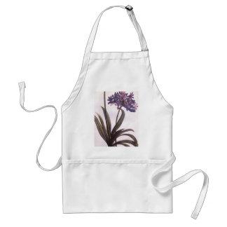 Delantal púrpura de la flor de Redoute del vintage
