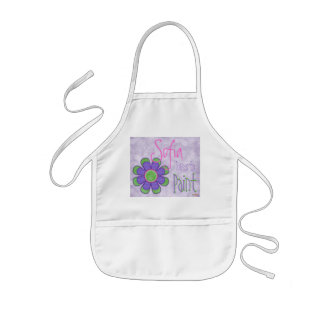Delantal púrpura de la pintura de la flor